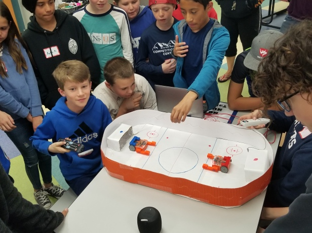 Edison Hockey with Makey Makey Interactive Goals