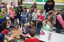 Interactive Robot Olympics With Makey Makey, Scratch and Edison Robots